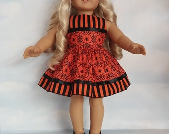 18 inch doll clothes - #311 - Halloween Spider Dress made to fit the American Girl Doll
