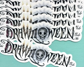 Special Club Price - Mabs Drawlloween Club sticker - vinyl silkscreen sticker - by Mab Graves
