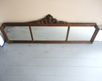 Vintage 1920s Art Deco Mirror w/ Sectioned Glass