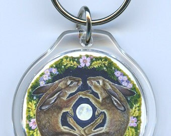 March Hares Rabbits Key Chain