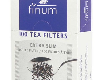 XS Tea Filters ~ Biodegradable XS Extra slim paper tea brewing filters