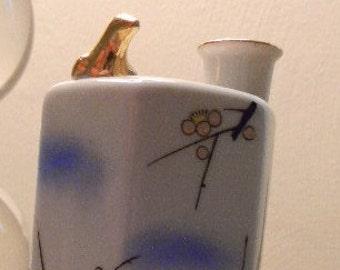 Asian Porcelain Whistling Sake Bottle