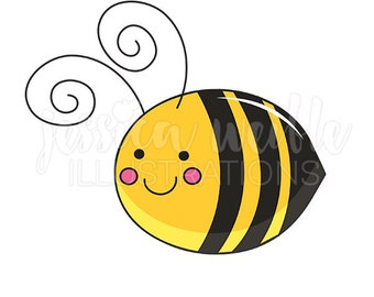 Be Mine Bee Cute Digital Clipart, Bee Clip art, Bumble Bee Graphics, Bumble Bee Illustration, #281