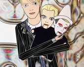 David Bowie tribute paper doll assembled articulated