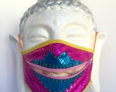 Sparkle Lover zippermask for Burning Man dusty dancing