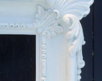 Vintage White Baroque Large Frame Ornate