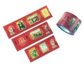 MASTE famous art museum masking tape - mona lisa, michelangelo, van gogh - paintings & statues - japanese washi tape