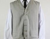 SALE - Vintage Khaki Brown Vest - Mens Size XL
