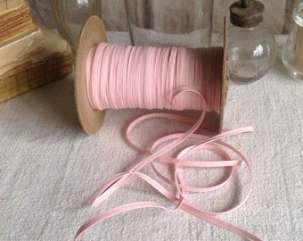 Vintage Bias Tape Trim. Pink Cotton Ribbon / 5 yards Pink Edging, Millinery Ballet Dolls & Sewing Supplies