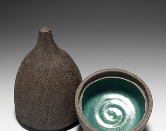 Handmade Ceramic Hobbit Box | Gnome Box | Stash Box 16-004