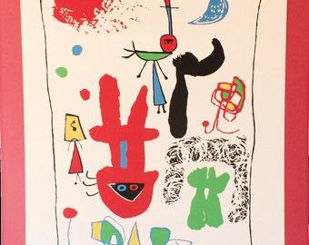 """Joan Miro Serigraph """"Acrobats in the Night Garden"""""""