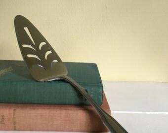 Vintage Silver Plate Pie or Cake Server, Pie Cutter, Wedding Serving Piece