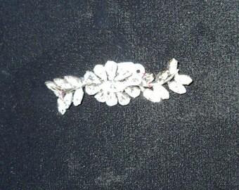 1950s Vintage Rhinestone Floral Spray Brooche  Item #791