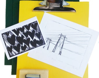 Printmaking Press + Platen for etchings monoprints linocut letterpress printmaking