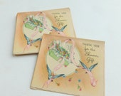 Baby or Bridal Shower Gift Thank You Notes Lot of 10 Unused Mid Century Greeting Cards