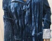 Crush Velvet Ocean Aqua Blue Blazer Jacket.