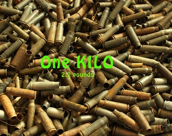 One KILO of Empty Spent Bullet Shell Casings - 2.2 Pounds Big Junk Lot - Redneck Colorado Burglar Repellent Arts, Crafts  Security - KILO-JK