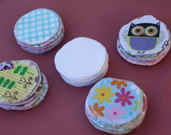 20 Cotton Facial Rounds, Makeup Remover, Reusable, Eco Friendly, Set of 20 PLUS 2, Various Designs