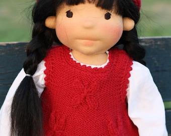 "Waldorf doll Aja 18"" Gifts for Children birthday, OOAK dolls"
