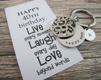 40th Birthday Gift | Personalized key chain | Tree Of Life Key Chain | Gift For Husband | Brother Gift