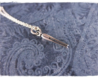 Silver Clothespin Necklace - Sterling Silver Clothespin Charm on a Delicate Sterling Silver Cable Chain or Charm Only