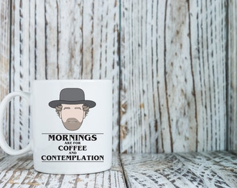 Mornings Are For Coffee and Contemplation | Stranger Things | Jim Hopper | Television | Coffee Mug