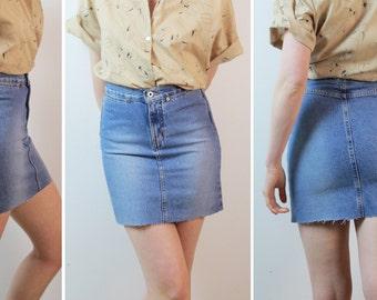 SALE Simple Jean Cut-off Skirt