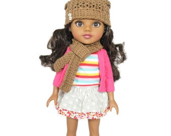 "Download Now - CROCHET PATTERN 13"" - 14.5"" Doll Madison Slouchy Beanie Pattern"