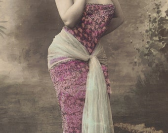 Maritza Rozanne at the Opera Comique, Hand-Tinted Card, circa 1905