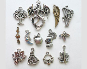 175 Assorted Celtic Charms, Gaelic