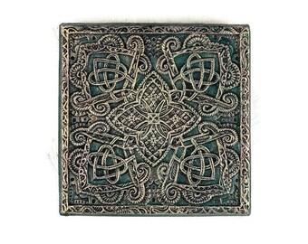 Mandala Art Stone Wall Plaque, Tangled Mandala Wall Art, Garden Art, Meditation Art
