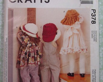 36 inch tall Time-Out Dolls with Clothes UNCUT McCalls Pattern P378