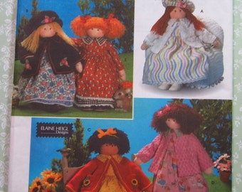 26 inch Doll and Clothes by Elaine Heigl Designs UNCUT Simplicity Pattern 8835