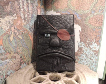 Mythical Beast Book (Pirate-black leather w/eye patch)