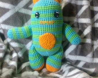 Crochet monster Any colors you want this one is ready to ship
