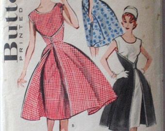 Vintage 50's Walk Away Dress Sewing Pattern - Butterick 7500 - Size 16, Bust 36