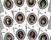 Gift Tags - Victorian Animal - Christmas Gift Tags - Gift Cards - Fox - Cat - Rabbit - Mouse - Squirrel - Frog- Goose