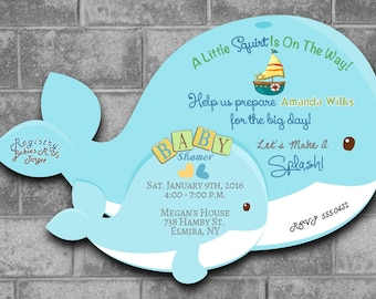 Whale Baby Shower Invitations, Nautical Baby Shower Invitations Sailor Baby Shower Invitation Whale Shower Baby Shower Whale Theme Sailor