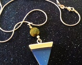 Opalite and Labradorite Triangle Point Necklace