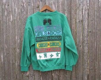 Vintage Naf Naf Girls & Boys Sweatshirt Mens Large
