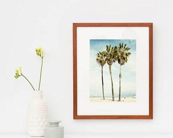 Framed Art, Framed Photography, Palm Trees, Los Angeles, Beach Photography, Venice Beach, Wooden Framed Print, Wall Decor