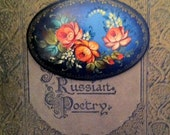 Russian hand-painted brooch.