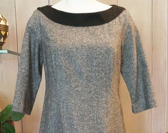 Free Shipping! PENDLETON PETITE Grey and Black Wool Dress- Size 12 P