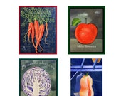Note Card Set with Fruit and Vegetables