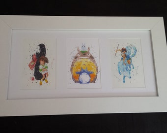 Studio Ghibli Wall Art, Spirited Away, Totaro & Princess Mononoke