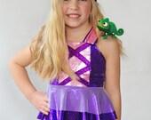 Girls Rapunzel Swim Suit