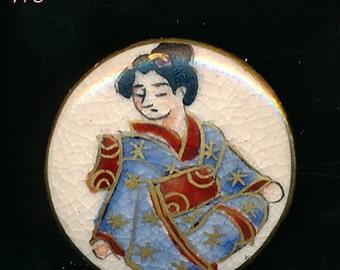 Satsuma Geisha Button