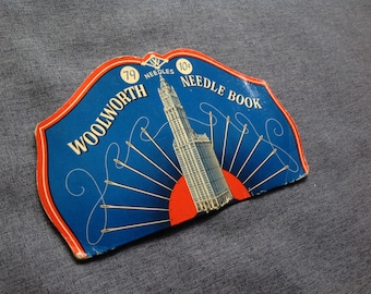 Antique Needle Book  Steel Needles  Woolworth Collectible Antique Sewing