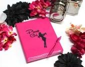 Hot Pink Pinup Girl Vinyl Journal Notebook
