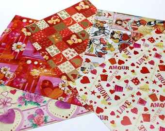 Hearts Ver.2 - Italian Gift Wrap Paper Pack